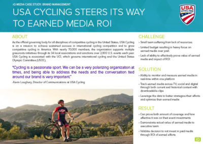[case study] USA Cycling steers its way to earned media ROI
