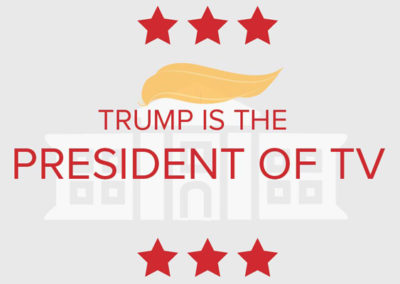 [infographic] Trump is President…of TV