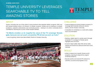 [case study] Temple University leverages real-time media intelligence to tell amazing stories
