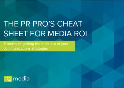 [eBook] The PR Pro's Cheat Sheet for Media ROI